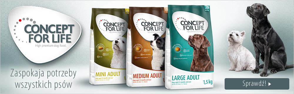 Concept for Life karma dla psa - teraz 50% taniej!