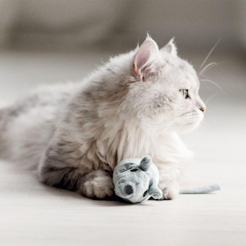 Pluszowa mysz zabawka dla kota
