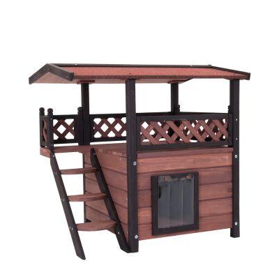 Domek drewniany dla kota